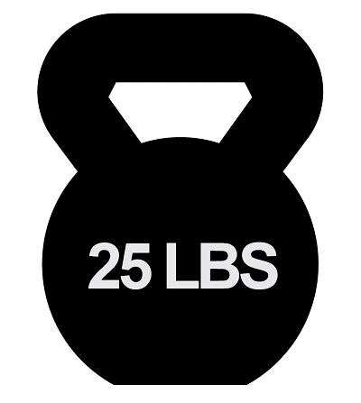 25 lbs